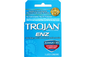 Trojan ENZ Latex Condoms - 3 CT