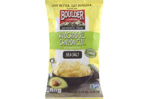 Boulder Canyon Avocado Oil Canyon Cut Kettle Cooked Potato Chips Sea Salt