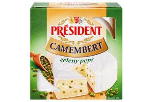 Сир м'який Камамбер з зеленим перцем President 90г
