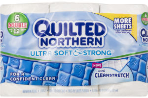 Quilted Northern With Cleanstretch Double Rolls - 6 CT