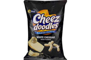 Wise Cheez Doodles Baked Puffs White Cheddar Cheese