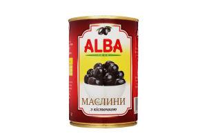 Маслины с косточкой Alba Food ж/б 300мл