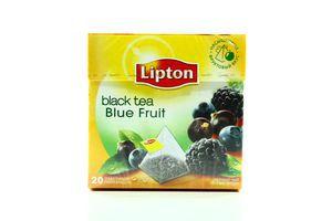 Чай черный Лесные ягоды Lipton к/у 20х1.8г