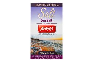 Соль пищевая осадочная молотая йодированная Морская Ямуна к/у 200г
