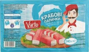 Крабові палички заморожені Varto м/у 240г