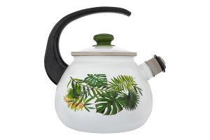 Чайник емальований 2.5л №27115/2 Монстера Idilia 1шт
