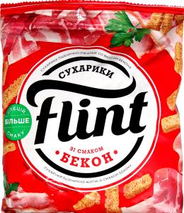 Сухарики пшенично-житні зі смаком бекону Flint м/у 70г