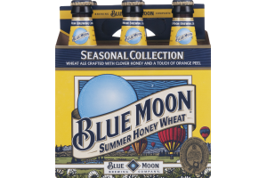 Blue Moon Seasonal Collection Summer Honey Wheat Beer - 6 CT