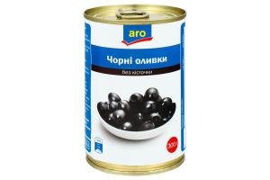 Оливки черные без косточки Aro ж/б 300г