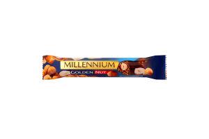 Шоколад молочний з начинкою та цілими горіхами Golden Nut Millennium м/у 40г