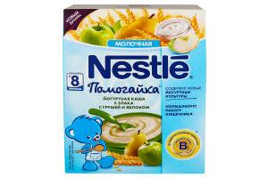 Каша молочная для детей от 8мес Йогуртная 3 злака с грушей и яблоком Помогайка Nestle к/у 200г