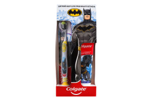 Набор для детей Зубная паста Защита от кариеса 75мл+Щетка Для настоящего Бэтмена Colgate 1шт