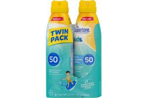 Coppertone Kids Sunscreen Spray SPF 50 Water Resistant - 2 PK