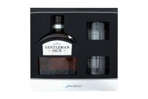 Набор Jack Daniel's Виски Gentleman Jack 40% 0.7л + 2 стакана 1шт