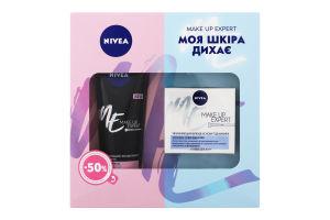 Набір флюїд-основа під макіяж зволожуючий Make Up Expert 50мл+ексфоліант для обличчя вирівнюючий Make Up Expert 125мл Nivea 1шт