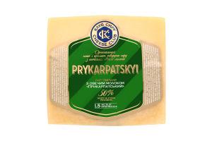 Сир 50% твердий с овечим молоком Prykarpatskyi Клуб Сиру кг