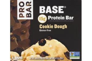 PROBAR Base Protein Bar Cookie Dough - 4 CT
