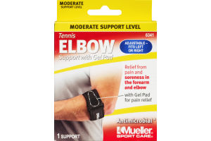 Mueller Sport Care Tennis Elbow Moderate Support with Gel Pad