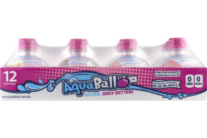 AquaBall Flavored Water Drink Fruit Punch - 12 CT