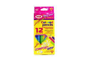 Карандаши VGR Colored pencils Comfort Grip 12цветов к/у арт00412F