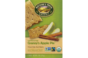 Nature's Path Organic Toaster Pastries Unfrosted Granny's Apple Pie - 6 CT