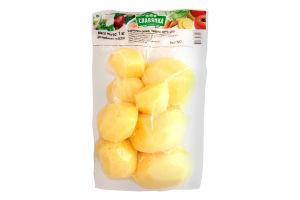 Картофель свежий очищенный мытый целый Славянка в/у 1кг