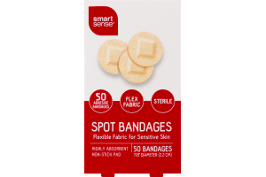 Smart Sense Spot Bandages - 50 CT