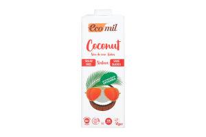Молоко органічне рослинне з кокосу без цукру Ecomil т/п 1л