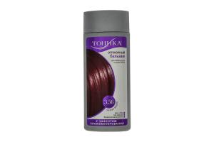 Бальзам для волосся Тоніка 6.45 відтінковий з ефектом біоламінування Рижий флакон 150мл