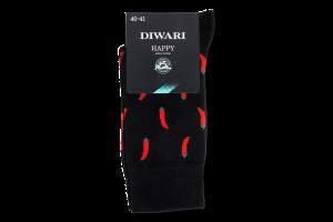 Шкарпетки чоловічі Diwari Happy №17C-151СП 25 чорний