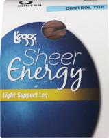 L'eggs Sheer Energy Light Support Leg Control Top Q Suntan