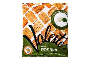 Міні-ролліні з витяжного тіста філло з бринзою та шпинатом заморожені Valesto м/у 800г