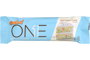 One Protein Bar Birthday Cake