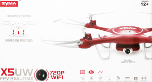 Квадрокоптер Syma X5UW с FPV камерой, Red