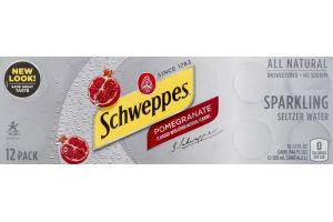 Schweppes Sparkling Seltzer Water Pomegranate - 12 PK
