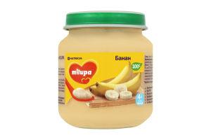 Пюре для детей от 4мес Банан Milupa с/б 125г.