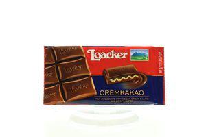 Шоколад Loacker молочний з какао начинкою 87г х12