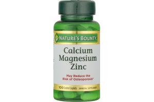 Nature's Bounty Calcium Magnesium Zinc - 100 CT