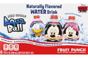 AquaBall Flavored Water Drink Zero Sugar Fruit Punch - 6 PK