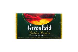 Чай чорний Golden Ceylon Greenfield пакет з/я 2г*25шт