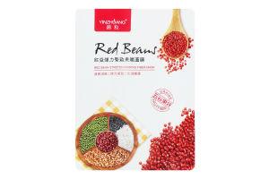 Маска для лица Red beans тканевая