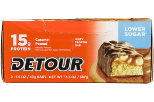 Detour 15g Whey Protein Bar - Lower Sugar Caramel Peanut - 9 CT