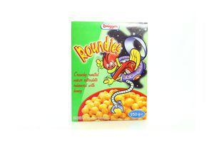 Завтраки сухие кукуруза с медом Roundies Bruggen к/у 250г