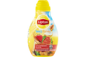 Lipton Tea & Honey Liquid Iced Black Tea Mix Strawberry Guava