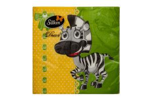 Салфетки Silk Decor бумажные Зебра 20шт