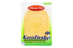 Продукт белково-жировой 50% Королевский Cheese Life лоток 0.15кг