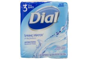 Dial Antibacterial Deodorant Soap Spring Water - 3 CT