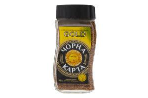 Кава натуральна розчинна сублімована Gold Чорна Карта с/б 190г