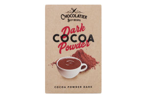 Какао порошок темний Chocolatier к/у 80г