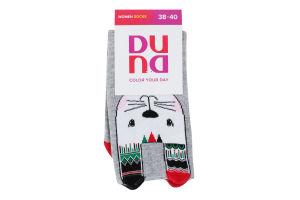 Шкарпетки жіночі Duna №3131 23-25 світло-сірий